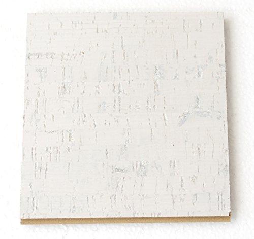 White Cork Flooring 4 Samples - Floating $ Cork Tile
