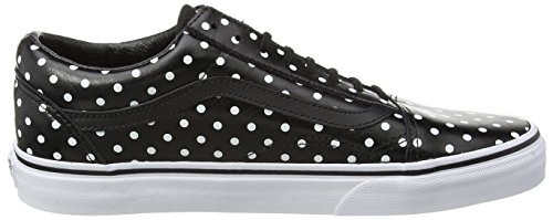 Vans Old Skool, Unisex-Erwachsene Sneakers Schwarz (polka Dots/black)