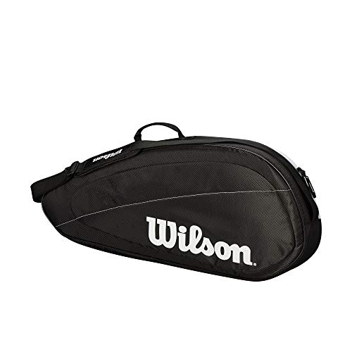 Wilson Fed Team 3 Pack Tennis Bag, Black/White