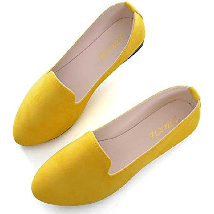 TN TANGNEST Slduv7 Women Pointed Comfortable Flat Ballet Shoes