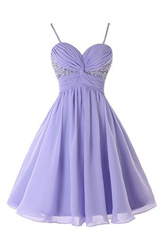 Short Royal Women Ruched s Bridal Blue Prom Beaded Dress Homecoming Chiffon Bess XpRFwq