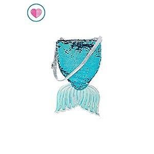 Justice For Girls Mermaid Tail Flip Sequin Crossbody Purse Bag