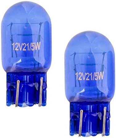 2x Stück T20 W21 5w W3x16d 21 5w 12v Super White Kfz Beleuchtung Tagfahrlicht Glühlampe Glühbirne Soffitte Autolampen Auto