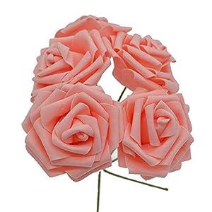 10 Heads 8Cm Pretty Charming Artificial Flowers Pe Foam Rose Flowers Bride Bouquet Home Wedding Decor Scrapbooking DIY Supplies 5