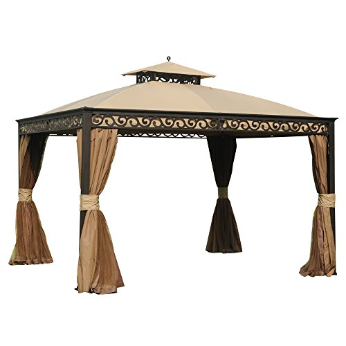 Sunjoy Webberly Gazebo in Brown Finish