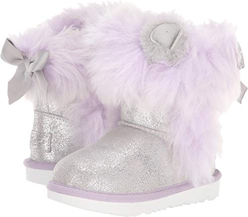 UGG Little Kids Maizey Classic II Boot Silver/Lavender Size 9 M US Toddler -