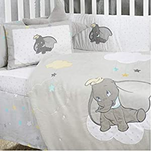 Baby Bedding Design | Dumbo Crib Bedding Set Baby Bedding Collection Set Embroidery Quilt & Bumper (3 pc Dumbo Crib Set)