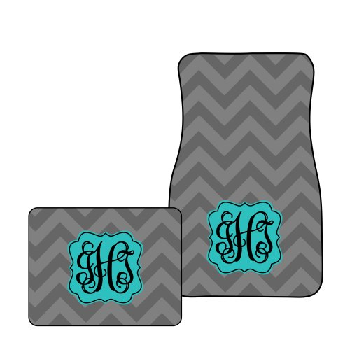 Monogram Car Mats (Tin Tree Gifts Customized Car Floor Mats Personalized Chevron (All Four (Front & Back)))