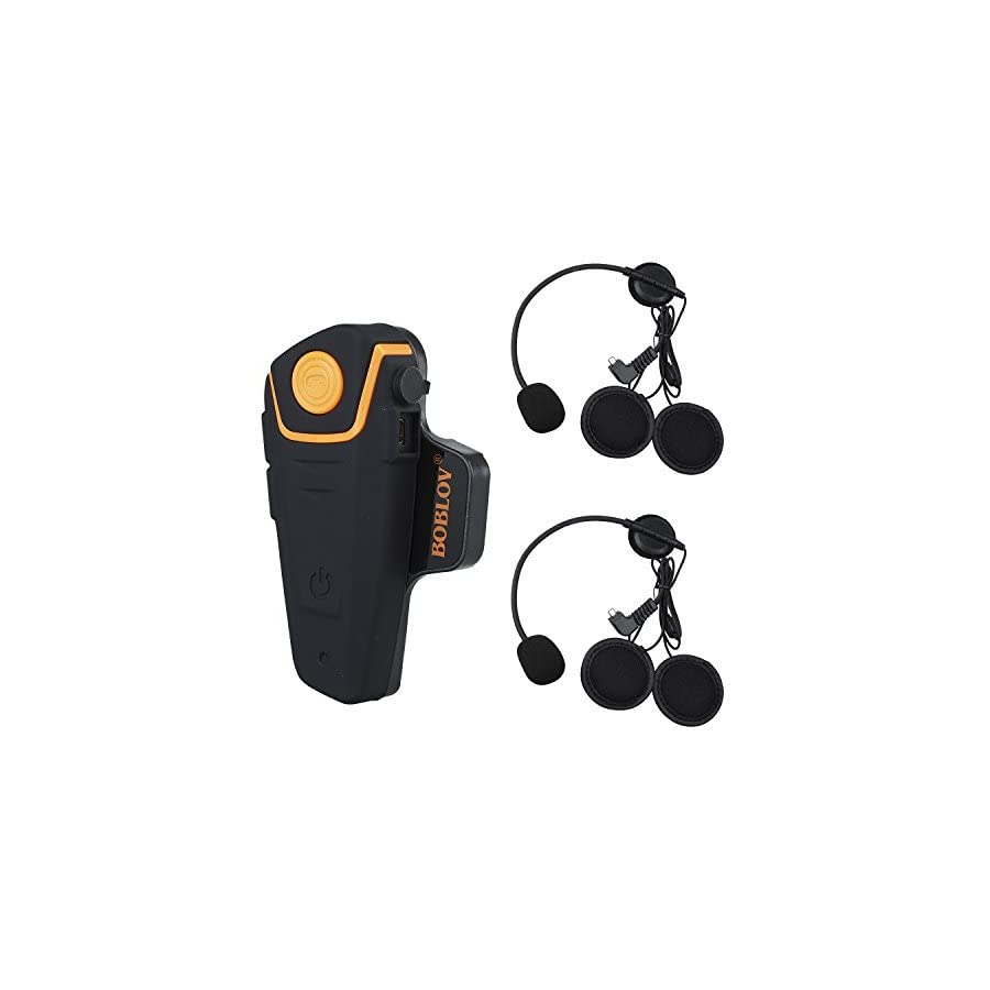 BOBLOV BT S2 1000M BT Motorcycle Helmet 2 or 3 Riders Headset Wireless Motorbike Interphone Hands Free and FM Radio