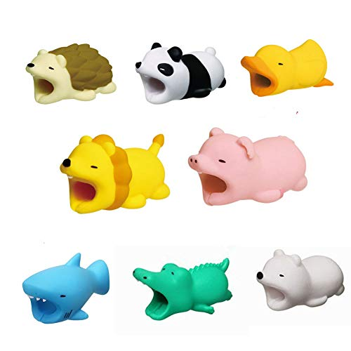 8 pack Animal Cable Protector for Iphone cable Winder Phone holder (Creative Cable)