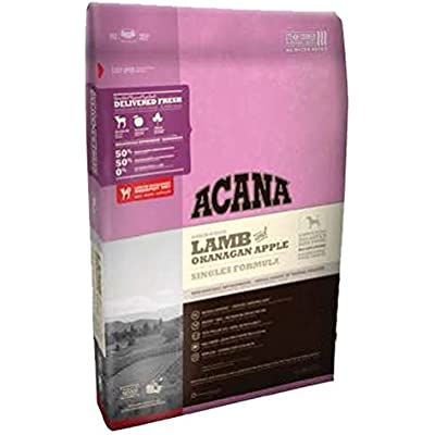 ACANA Singles Lamb Apple Formula Dry Dog Food 25 Pound Bag (Limited Ingredient Biologically Appropriate)