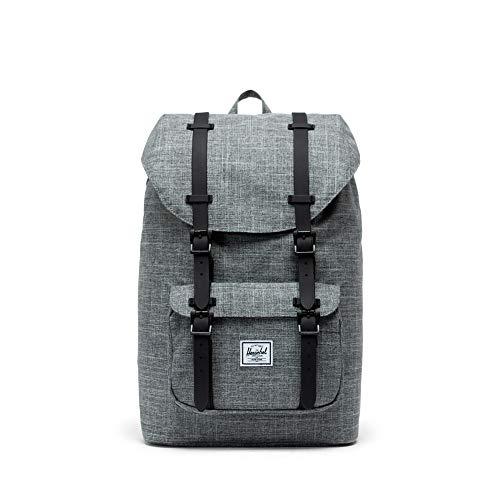 Herschel Little America Mid-Volume Backpack, Raven Crosshatch/Black Rubber