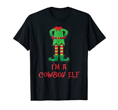 I'm A Cowboy Elf Costume Funny Christmas T