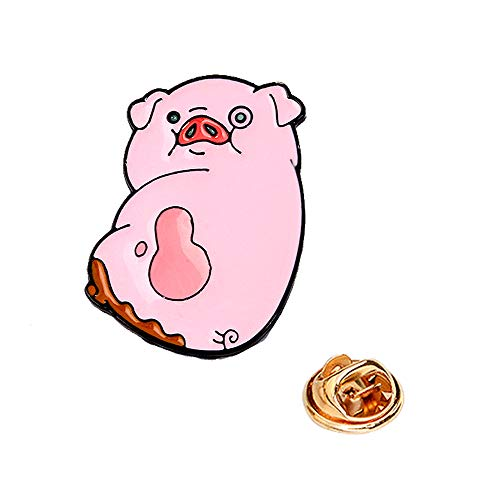 - New Arrival Cute Pink Pig Big Charm Button Brooches Pins NP09 (1 Piece)