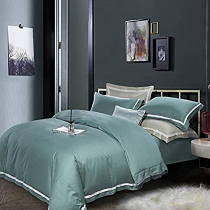 Image of 2019 New Product Simple 100 high-end Puma Cotton Solid Color Cotton Bedding Set of Four,8,200230 Home and Kitchen