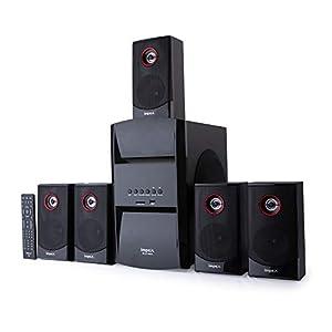 Impex 5.1 Blue Rock-Plus 140 W Multimedia Bluetooth Speaker System with FM/SD/USB/MMC/Remote Control & 2 Mic Port (Black)