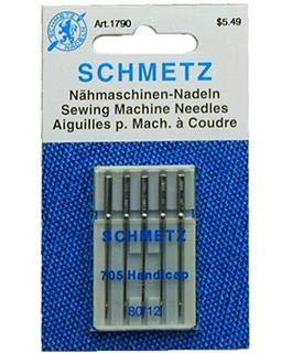 Machine Sewing Needle Threading (25 Schmetz Quick Threading Universal Sewing Machine Needles 705 HDK Size 80/12)