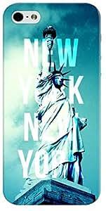 Stylizedd Premium Slim Snap Case Cover Matte Finish for Apple iPhone SE / 5 / 5S - New York New York