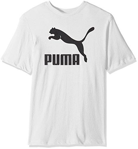 PUMA Mens Archive Life T-Shirt Shirt, White/Black, S