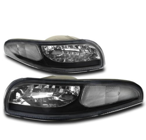 CPW (tm) 1997-2004 CHEVY CORVETTE EURO BLACK CLEAR CORNER SIGNAL LIGHTS DOT (1997 Clear Corner)