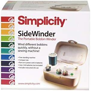 Simplicity Sidewinder Portable Bobbin Winder, Off White