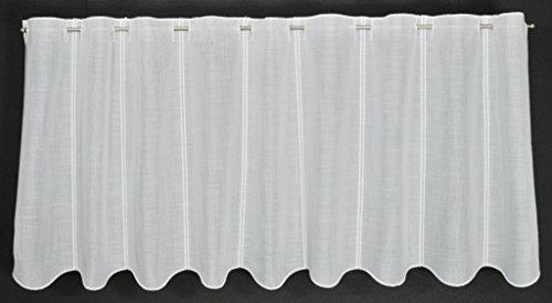 Scheibengardine weiß Käseleinenoptik 50 cm hoch | Breite der Gardine durch Stückzahl in 15,5 cm Schritten wählbar!