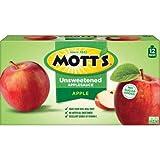 Mott's Unsweetened Applesauce, 3.2 oz, 12 count - 3 Pack