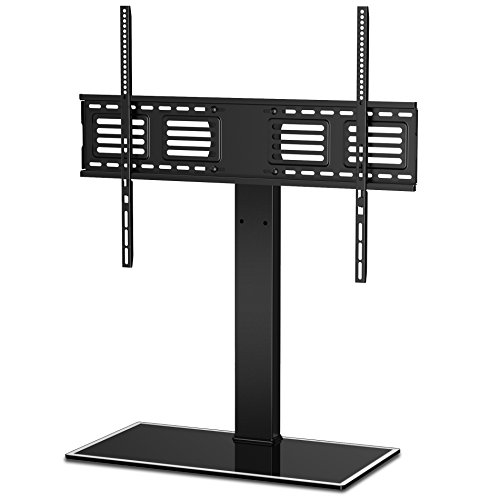 (FITUEYES Universal TV Stand with Swivel Mount Height Adjustable for 50inch to 80 inch TV FTT107003GB)