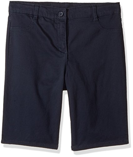 Nautica Girls Plus Size' Twill Bermuda Short, Su Navy/Five Pocket, 16.5 by Nautica