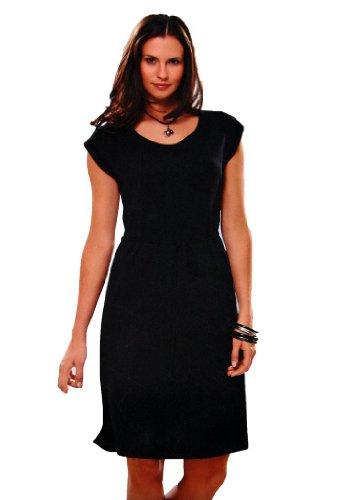 Maks Euro Design Ladies Casual Cotton Summer Beach Cover-up Sun Dress (Black, Small) ()