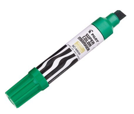 Pilot Products - Pilot - Jumbo Refillable Permanent Marker, Chisel Tip, Refillable, Green - Sold As 1 Each