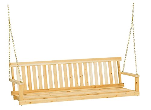Jack Post Jennings Traditional 5-Foot Swing Seat with Chains in Unfinished Cypress