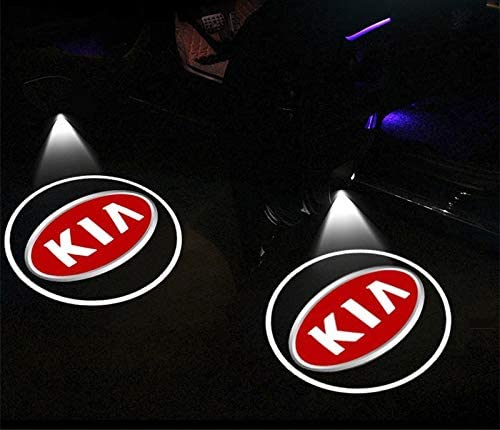 Autot/ür Willkommenslicht 2x Wireless-Auto-T/ür-Willkommens-Licht-LED-Projektor Emblem Logo-Lampe for KIA Sid Rio Seele Sportage Ceed Sorento Cerato K2 K3 K4 K5