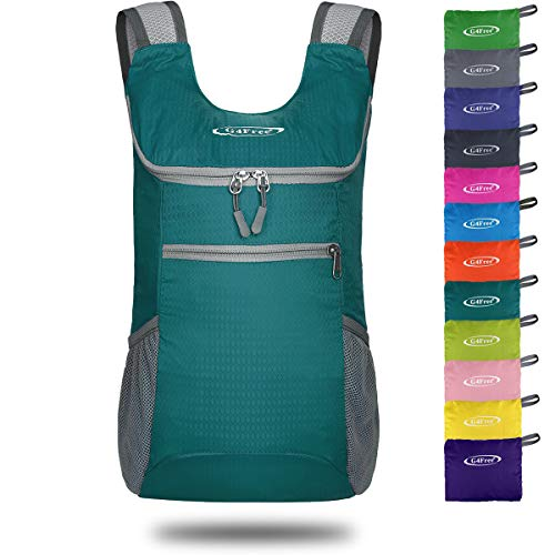 G4Free Lightweight Packable Shoulder Backpack Hiking Daypacks Small Casual Foldable Camping Outdoor Bag 11L(Malachite ()