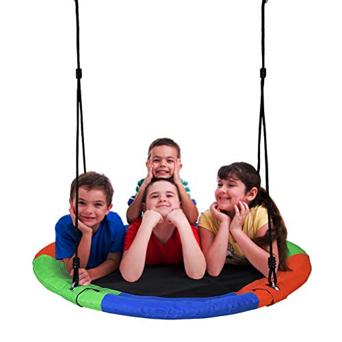 Extra Large 40'' Diameter Tree Swing,Children's Colorful Swing,400lbs Weight Capacity