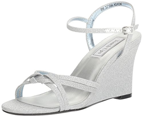 Ups Sandal Women's Silver Buffy Touch Wedge UdxqZOHUw