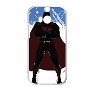 Superman Upward Clouds HTC One M8 Cell Phone Case White Exquisite gift (SA_503108)