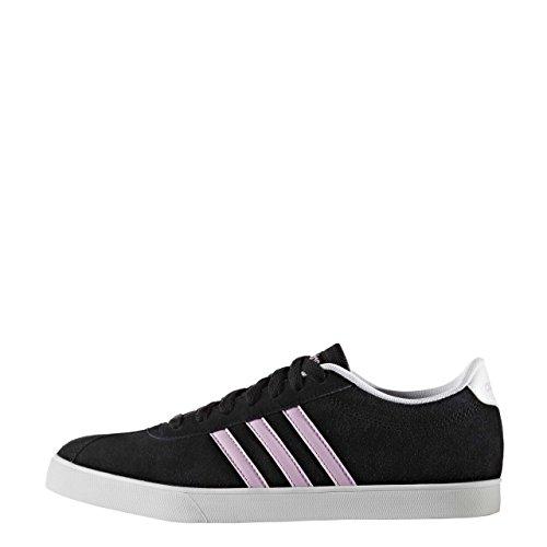 adidas COURTSET W - Zapatillas deportivas para Mujer, Negro - (NEGBAS/ORQCLA/FTWBLA) 42 2/3