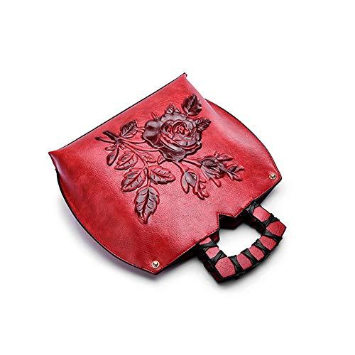 Lavoro YJIUJIU A Lo Tracolla Femminile Shopping Adatto Messenger Goffratura Rosso Per Borsa Incontri Bag Borsetta Stereo BnF6xSHwqB