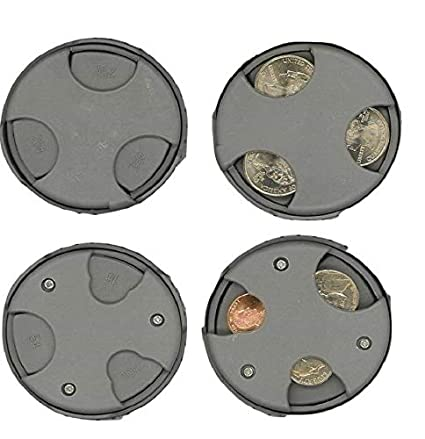 Euros Quarters Nickels 2017 Money Organizer for Car Travel Dimes COIN MATE Pocket Organizer Change Holder Double Sided Slots for U.S Pennies Womens Purse Great Gifts for Mens Wallet