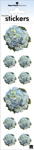Paper House Productions ST-2249E Photo Real Stickypix Stickers, 2-Inch by 4-Inch, Hydrangeas (6-Pack)