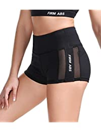 FIRM ABS Yoga Shorts Womens Athletic Mesh Workout Running Booty Short Pant