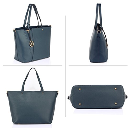 Style Shoulder Celeb Women Ladies Bags Designer Shopper A4 Bag Handbag Handbags Clearance LeahWard Sale Fashion Tote Navy For Ladies 350 qzpfwxC