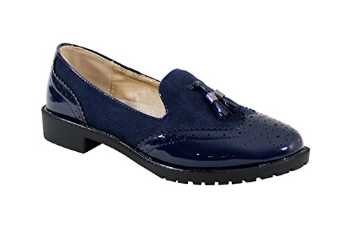 Femme EU Style Blue By Shoes Chaussure Plate Vintage 41 XfUU6Pwq