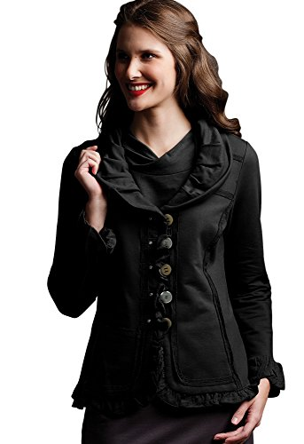 Neon Buddha Women's Carmel Patchwork Jacket, Market Black, Medium