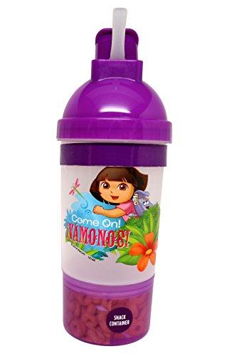 Sip and Snack Bottle, Dora, 1-Pack