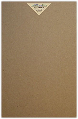100 Sheets Chipboard 24pt (point) 11 X 17 Inches Light Medium Weight Tabloid Size .024 Caliper Thick Cardboard Craft Packaging Brown Kraft Paper Board by ThunderBolt Paper