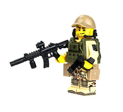 Swat Police Armored Assaulter Officer Minifigure made with real LEGO parts R