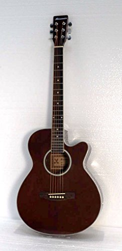 40'' Acoustic Electric Cutaway Guitar, Mahogany Body by Harmonia