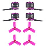 Crazepony 4pcs HF1105 6000KV Brushless Motor and 4pcs 2030 3-Blade Props for Micro FPV Racing Drone Multirotors Quadcopter